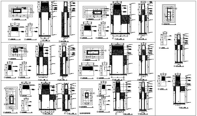 [浙江]流动地景自然生态大学校园景观规划设计全套图纸(方案+CAD施工图+PDF施工图+实景图)-北区地库风井详图