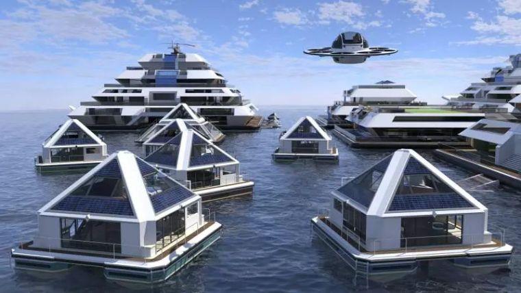 坐着飞碟回家的未来水上城市_7