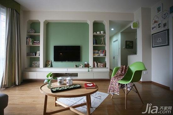 客厅背景墙也爱耍大牌你家客厅hold住吗?-背景墙也可以进行功能区的划分,像这样的电视机背景墙不仅大方美观而且很实用,可以收纳不少物件哟。从它的功能上看也可以足够耍大牌了。