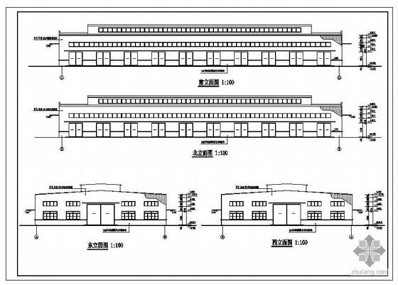 某单层排架厂房建筑结构图