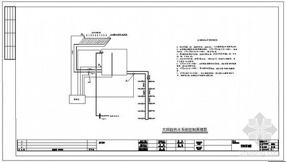 某小区住宅楼太阳能热水系统图