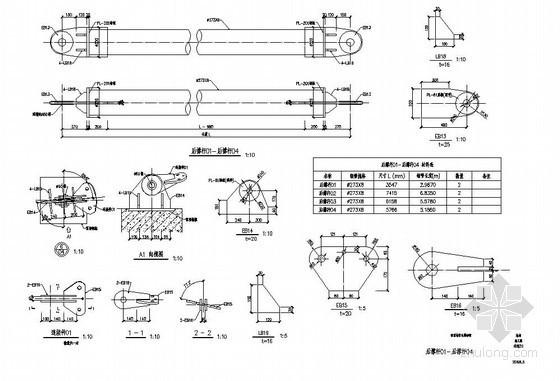 成都某高校看台张拉膜结构设计图