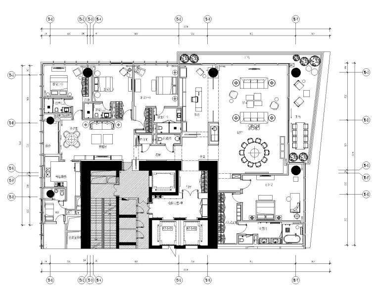 [YabuPushelberg]深圳湾1号-现代风格豪华五居室样板间室内装修设计施工图+效果图