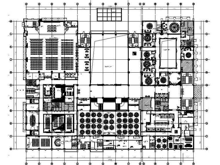 [山东]蓬莱古城北关路知名5星大酒店室内设计施工图(含效果图)