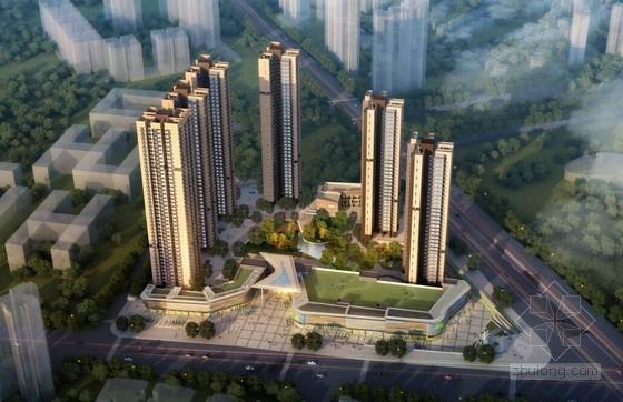 [深圳]43层超高住宅楼建筑设计方案文本(知名地产公司)