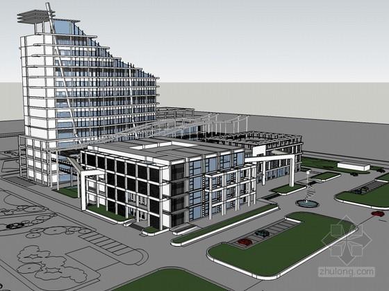 现代医院SketchUp模型下载