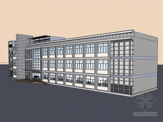 政府综合楼SketchUp模型下载-政府综合楼