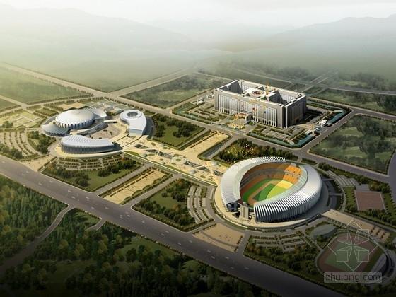 [山东]剪力墙结构大型体育中心规划及单体设计方案文本