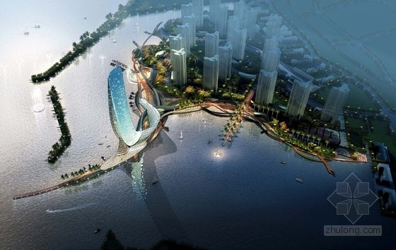 [山东]现代风格超高层豪华水上酒店设计方案文本