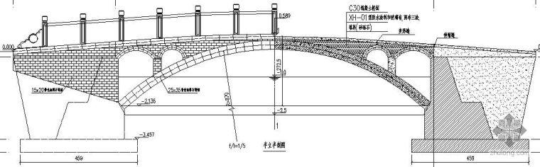 石家庄某公园三种景观桥施工详图