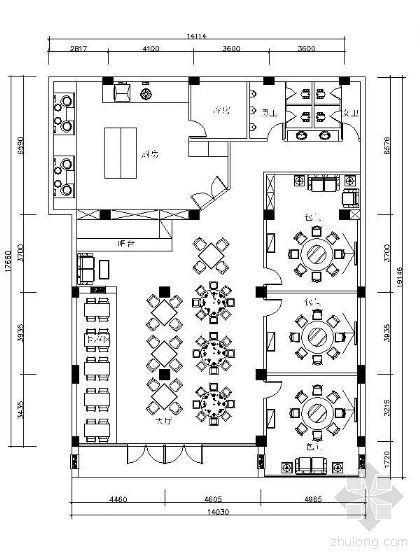 中餐厅平面图(附效果)