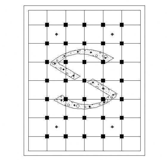 广场主入口平面图