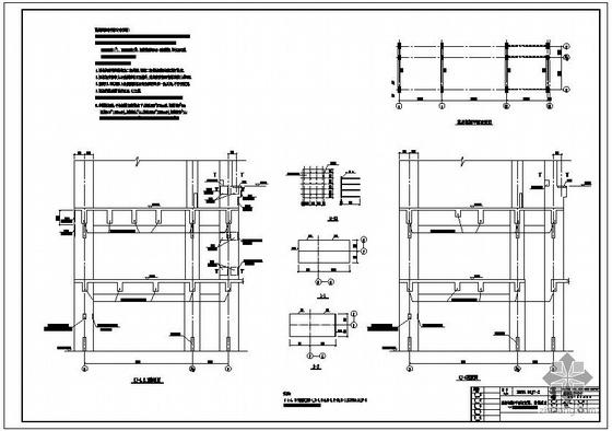 某炼钢车间高层框架结构设计图