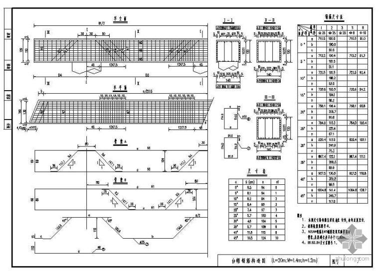桥台通用设计图