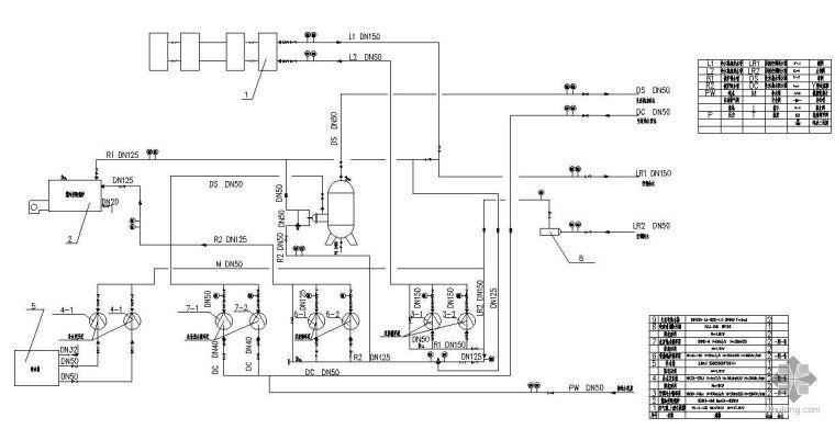 某别墅供暖制冷及生活热水系统图