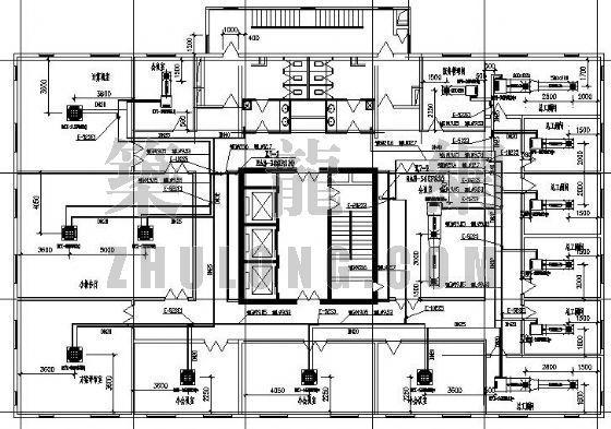 vrv办公楼空调设计资料下载-某办公楼VRV空调设计图