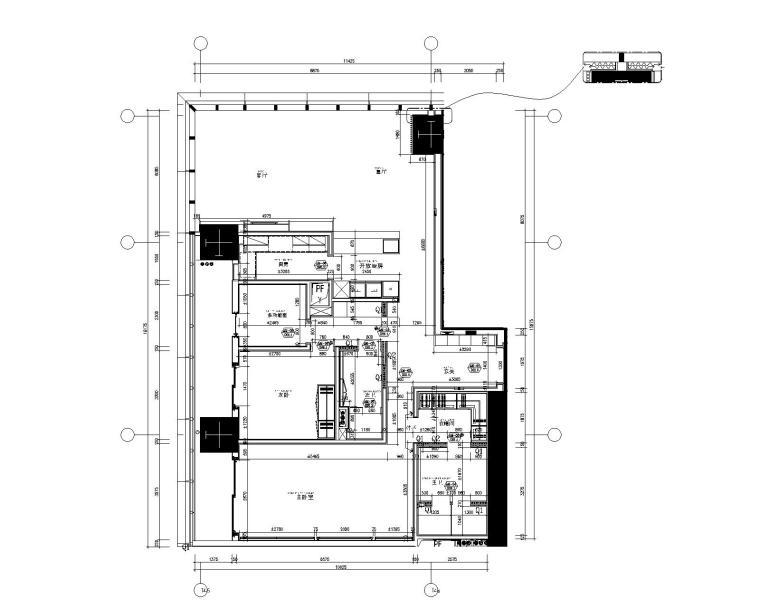 [SCDA&如恩]华润公寓现代风格两居室样板间室内装修施工图&效果图&物料表(CAD、JPG、PDF)