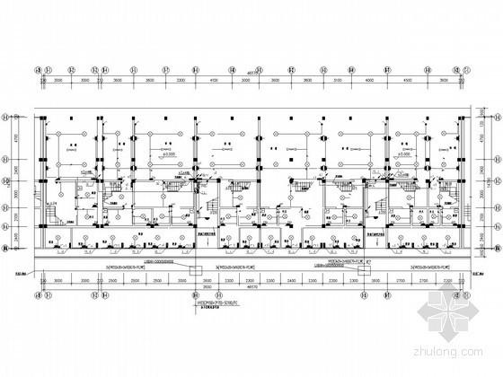 [广西]六层花园商住楼全套电气施工图纸