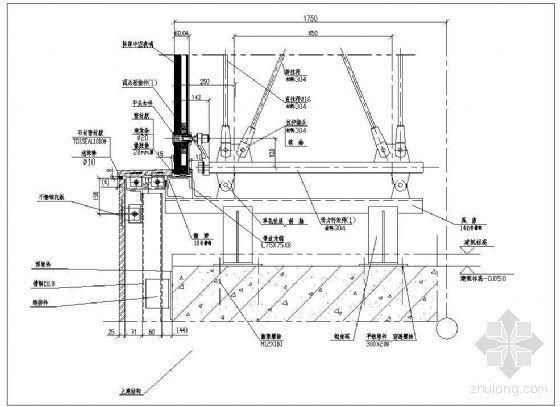拉杆式点式幕墙节点(二)