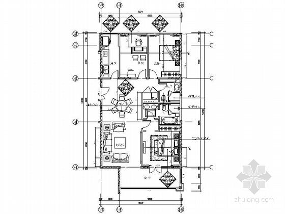 [北京]南三环时尚三居室样板间室内装修图(含效果)