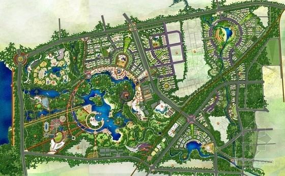 [合肥]森林公园景观规划设计总平面图