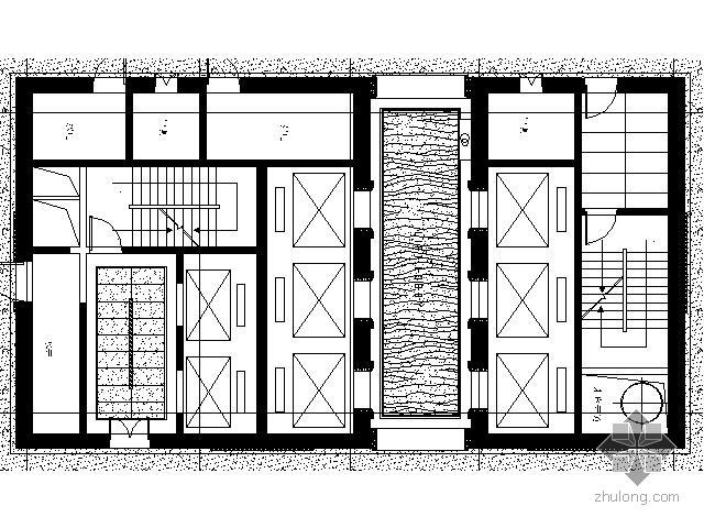 酒店标准层电梯厅及公共走道装修图