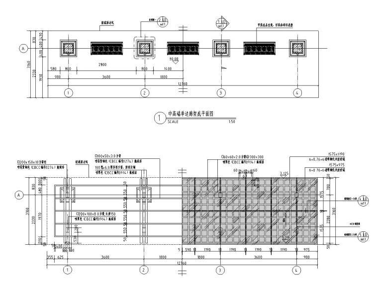 中高端单边廊架施工图设计-文科设计院