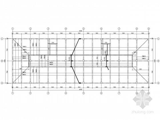 带阁楼坡屋面框架办公楼结构施工图