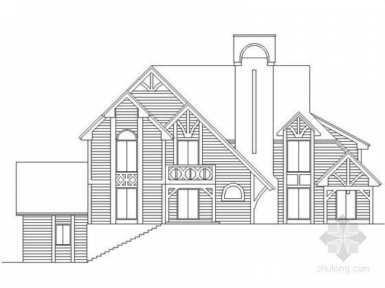 某二层哥特式别墅建筑方案图(365平方米)