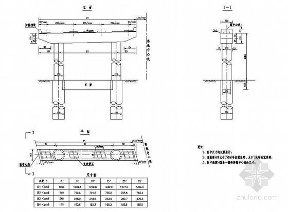 预应力混凝土连续箱梁桥下部连续处桥墩一般构造节点详图设计