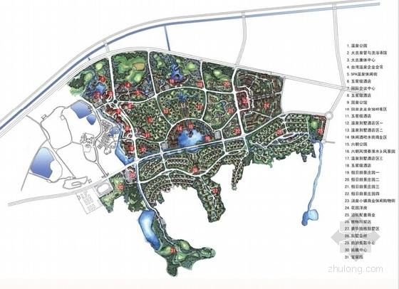 [江苏]国际级综合性旅游度假区景观规划方案-深化总平面图