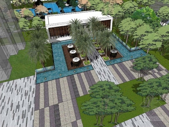 """[广州]现代""""泛高尔夫社区""""景观设计方案"""