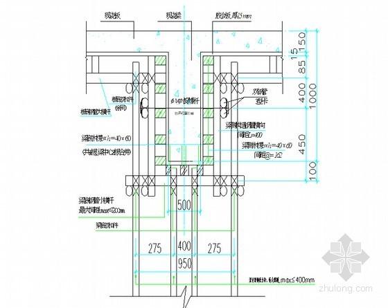 框架结构工业厂房工程模板支撑施工方案