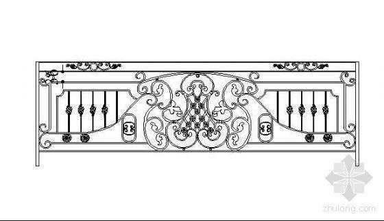 铁艺栏杆标准段设计图3