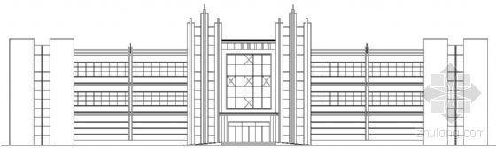 某厂区三层综合楼建筑方案图(有效果图)