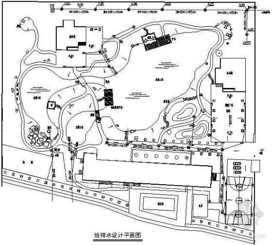 某厂区环境给排水设计平面图