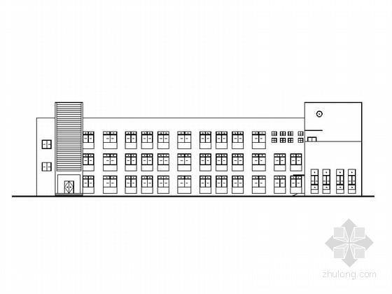 [安徽]三层框架结构一字型布局幼儿园建筑施工图