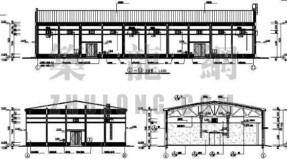 某粮食仓房屋架设计图