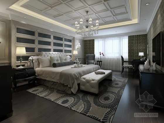 法式欧式卧室3d模型下载