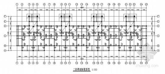 砖混结构公寓结构施工图(四层 条形基础)