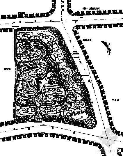 上海某大型小区规划总图