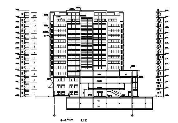 数字娱乐孵化大厦施工图归档(全套施工图)