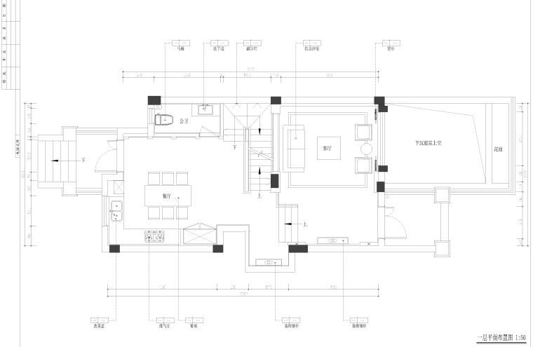 新中式三层别墅室内施工图设计(附效果图)