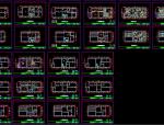 129套最新室内CAD施工图,节点大样图,详图,剖面图,立面图