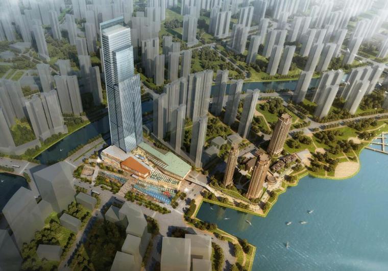vivo总部方案设计资料下载-长沙某国际总部中心商业综合体项目方案设计文本PDF