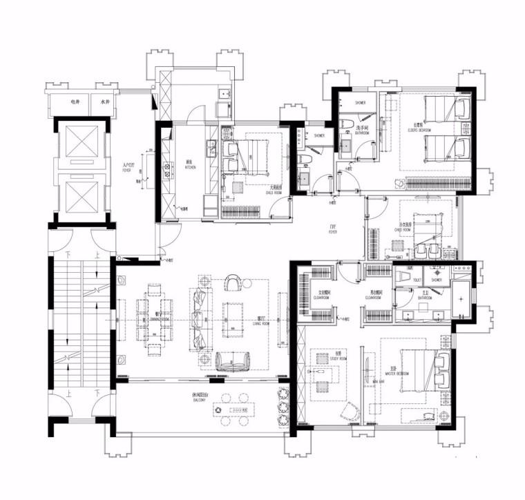 万科简约现代的皇马郦宫豪宅平面图(20)