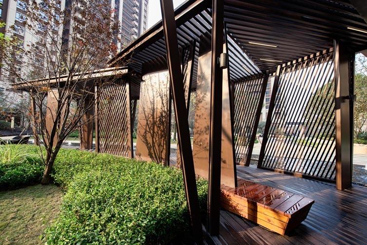 成都九里晴川大区新中式住宅景观-1 (5)