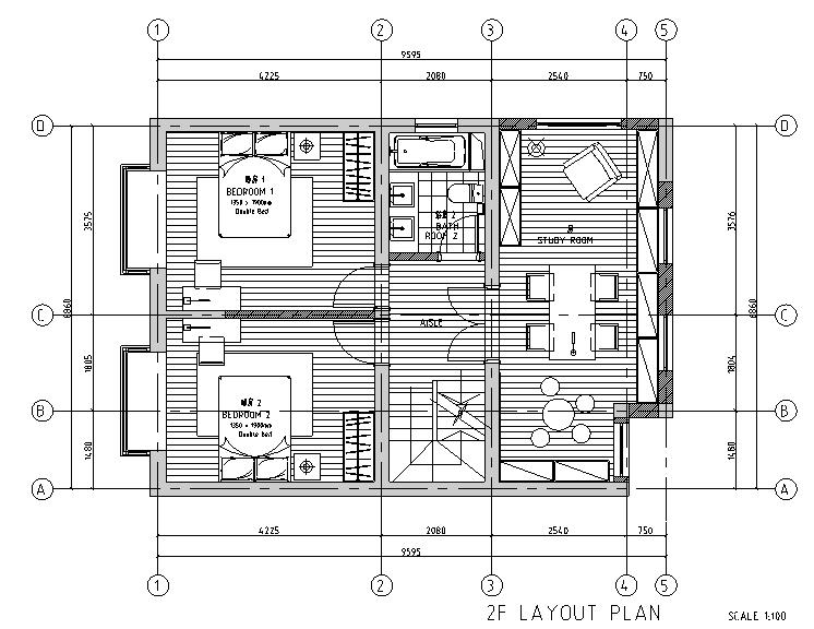 [上海]简美主义别墅设计施工图(附效果图)