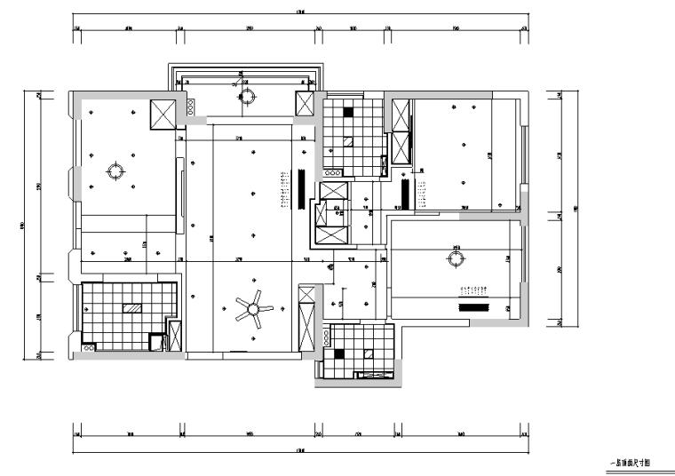 [浙江]原木简约住宅空间设计施工图(附效果图)