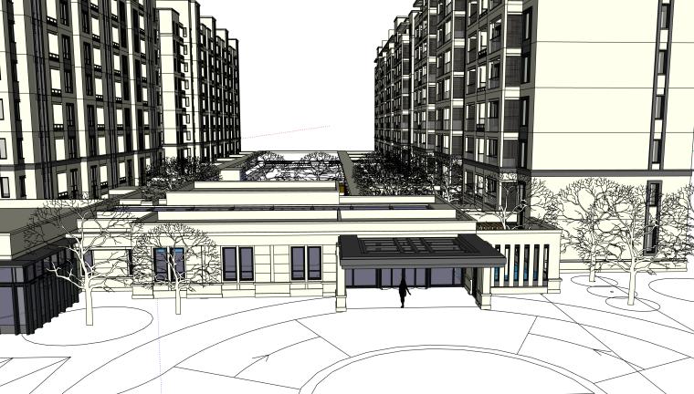 万科健康住宅单元拼接建筑设计模型